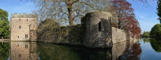 The moat at The Bishops Palace